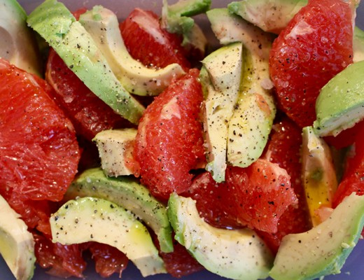 Avocado grapefruit salade